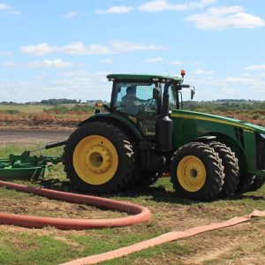 Hose Reel in the field with drag hose