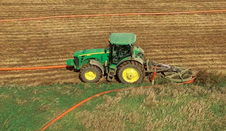Hose Reel with tractor