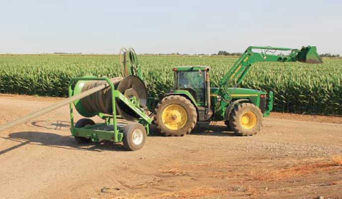 Hose Cart on Tractor