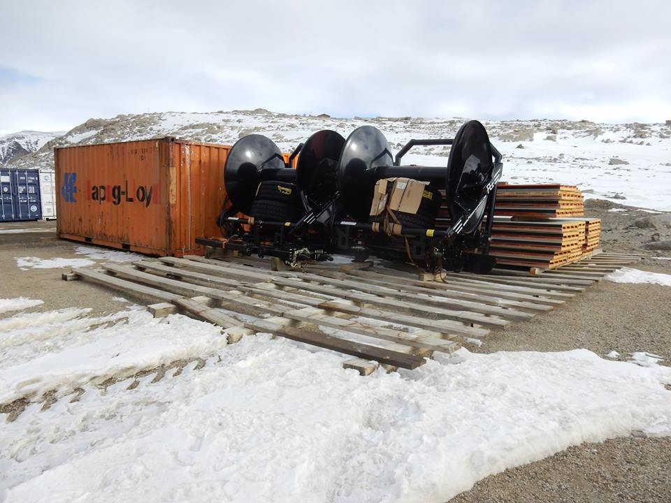Delivery to Antarctica - HC8 hose carts